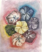 Coloured collection of flowers by LadyKylin