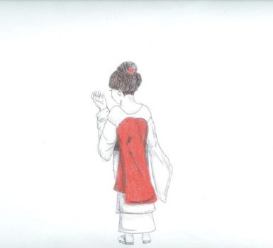 Back View Madama Butterfly by Quetzal2012