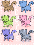 Adoptable Cat Batch [ OPEN ] by HolliKyo