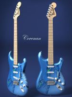 Blue Dragon Fender by covenan