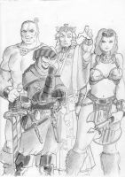 Hyborian characters for RPG by Samael1103
