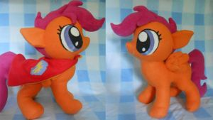 Scootaloo Plush with Cutie Mark Crusader Cape by NoxxBunny