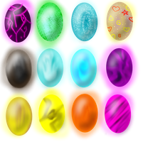 3 point Dragon eggs adoptables CLOSED by Libra-Dragoness
