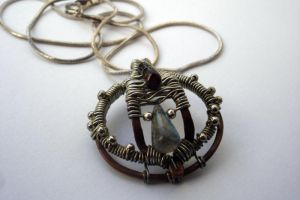 Wire and Gemstone Necklace by idlemoment
