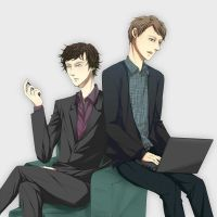 Sherlock and John by carrienloveyou