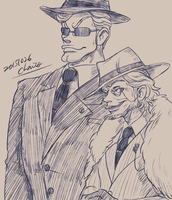 Boss and bodyguard by chacckco