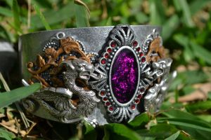 Two tone, dragon cuff by MonstersInThewall