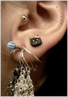 piercing oreille by salg0ss