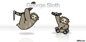 George the Sloth by JinxBunny