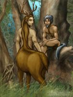 Farras and Archanon by Rizerax