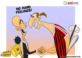 Ibrahimovic meets Guardiola by OmarMomani