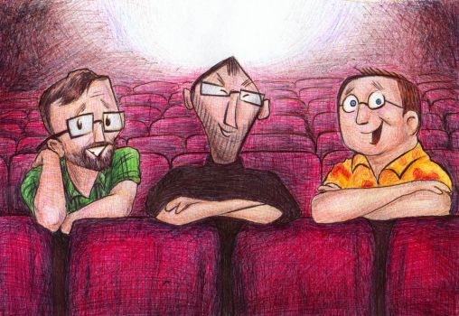 Ed, Steve, and John go to the Movies by bluefootednewt