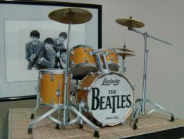 The Beatles Drum papercraft by EdonTuazon