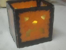 Jack-o-lantern Votive Holder by recycledrapunzel