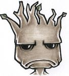Grumpy Groot by theopticnerve