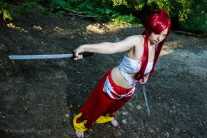 Erza Scarlet by kittymichaels