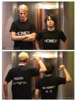 Do you like HOMO Reika and Kaname Levi X Erwin by WiredintoSpace