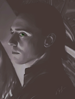 Loki black-and-white by AlessandraTheBest