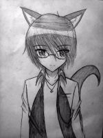 Photo of me with Wolf Ears and Tail by UnitInfinity