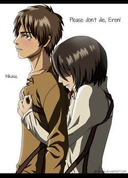 Attack on Titan: Eren and Mikasa by Daniimon
