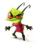 Daily Painting 616# Zim RD by Cryptid-Creations