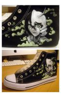 Ulquiorra shoes - In progress by Club-Bleach