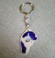 MLP Rarity Keychain Charm Custom FOR SALE by AmyAnnie14