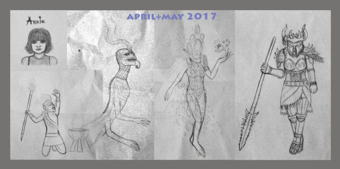 Sketch dump April+May 2017 by zebnemma