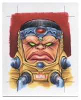 M.O.D.O.K. - Marvel 75th Anniversary SketchCard by Erik-Maell