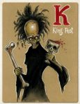 K is for King Pest by Disezno