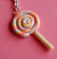 Cotton Candy Lolli Necklace by FatallyFeminine