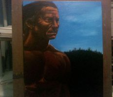 Native Oil Painting WIP by RNABrandEnt