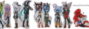 Sonic and Anthro Girls AdoptableBatch by WodahsComs-n-Adopts