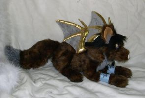 Demon wolf plush by Bladespark