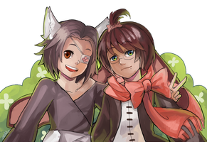 Commission Hikari and Jacques by zeneria29