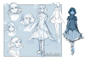 Starla: Concept Sheets. by DoubleCluepon