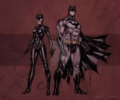 Catwoman+Batman by SpiderGuile by StephenSchaffer