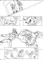 AMAZING X-MEN #1 page preview inked by Sabrerine911