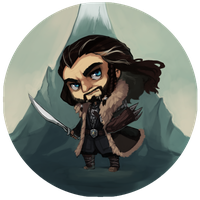 The Hobbit Buttons - Thorin by BloodnSpice