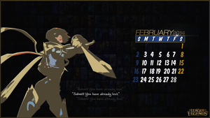 League of Legends Calender 2014 - February by CreateMyIntro