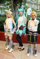 anime la vocaloids rin miku len by AccessAccess