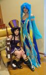 League of Legends: Caitlyn and Sona by Kaira27
