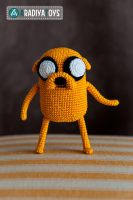 Jake from 'Adventure Time', crochet toy by Aradiya9