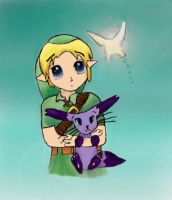 Link and Card Captor Creature by epona675