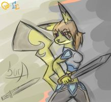 .:Sketch RQ:. Sara the Pikachu by xXSilentCarioXx