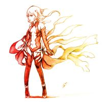 Inori sketch by Chizzachan