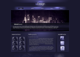 uDesign Web Template by KustomzGraphics