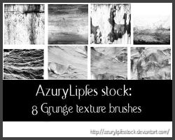 Grunge texture brushes part 2 by AzurylipfesStock