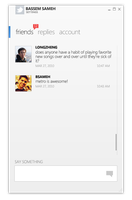 Twitter client mockup by BassemS