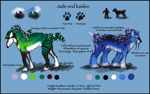 Jade And Kaiden Ref 2011 by saphariadragon